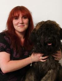 Sarah Went with a dog