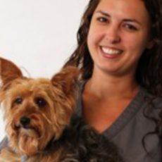 Marci Neilly with a dog