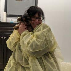 Dr. Jocelyn Kean, DVM with a puppy