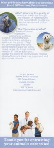 AAHA information with What You Should Know About The American Board of Veterinary Practitioners text